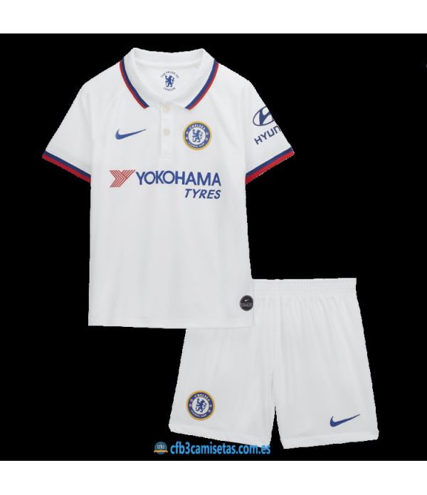 CFB3-Camisetas Chelsea 2a Equipación 2019 2020 Kit Junior
