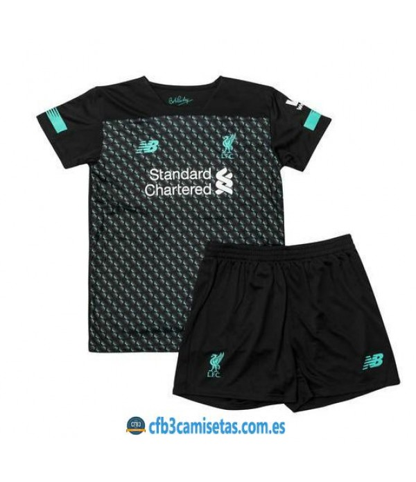 CFB3-Camisetas Liverpool 3a Equipación 2019 2020 Kit Junior