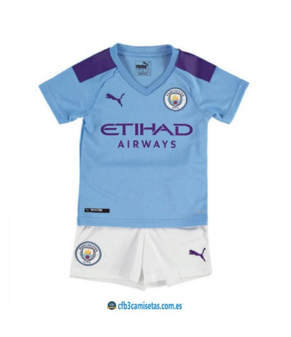 CFB3-Camisetas Manchester City 1a Equipación 2019 2020 Kit Junior