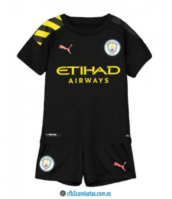 CFB3-Camisetas Manchester City 2a Equipación 2019 2020 Kit Junior
