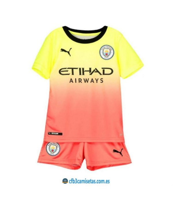 CFB3-Camisetas Manchester City 3a Equipación 2019 2020 Kit Junior