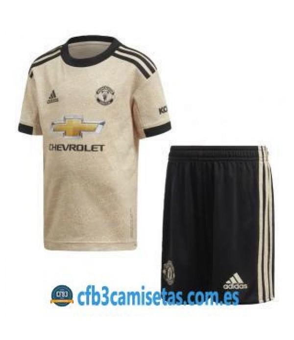 CFB3-Camisetas Manchester United 2a Equipación 2019 2020 Kit Junior