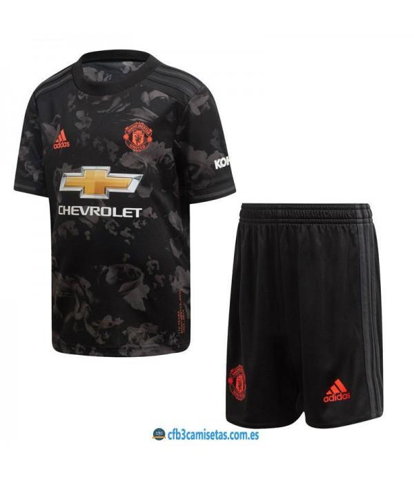 CFB3-Camisetas Manchester United 3a Equipación 2019 2020 Kit Junior