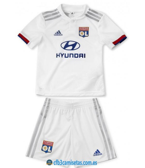 CFB3-Camisetas Olympique Lyon 1a Equipación 2019 2020 Kit Junior