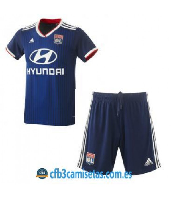 CFB3-Camisetas Olympique Lyon 2a Equipación 2019 2020 Kit Junior