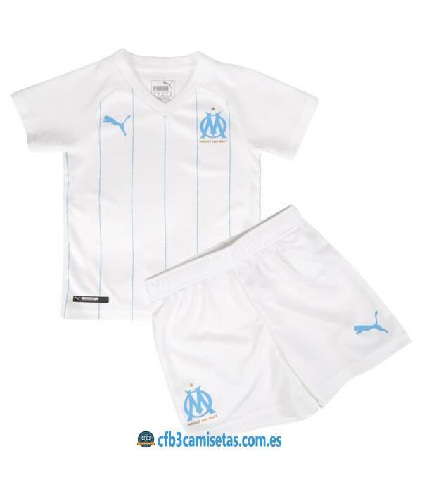 CFB3-Camisetas Olympique Marsella 1a Equipación 2019 2020 Kit Junior
