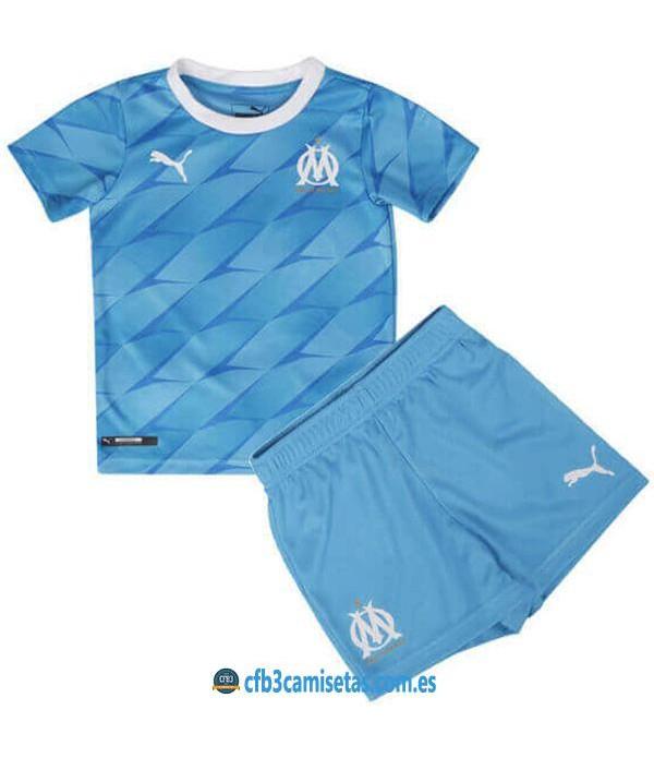 CFB3-Camisetas Olympique Marsella 2a Equipación 2019 2020 Kit Junior