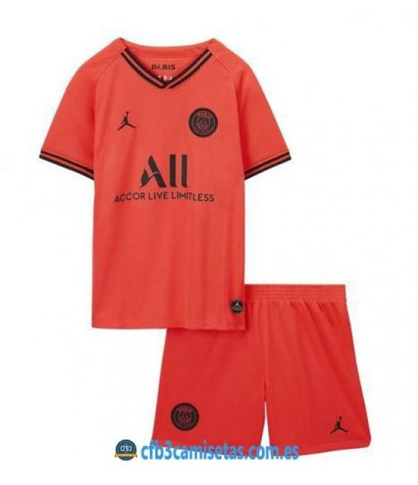 CFB3-Camisetas PSG 2a Equipación 2019 2020 Kit Junior