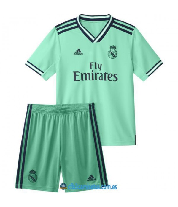 CFB3-Camisetas Real Madrid 3a Equipación 2019 2020 Kit Junior