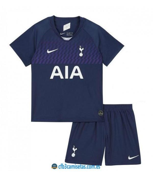 CFB3-Camisetas Tottenham Hotspur 2a Equipación 2019 2020 Kit Junior