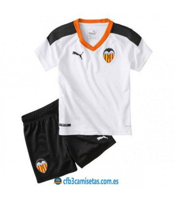 CFB3-Camisetas Valencia 1a Equipación 2019 2020 Kit Junior