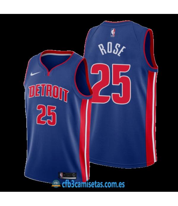CFB3-Camisetas Derrick Rose Detroit Pistons Icon