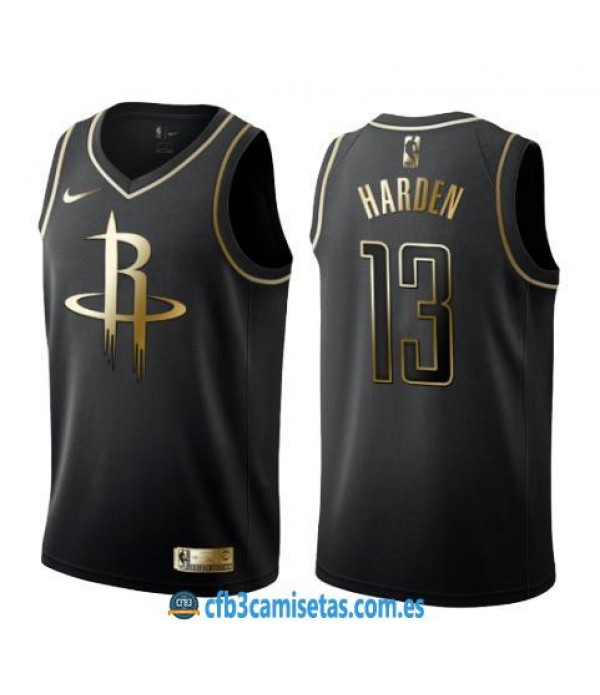 CFB3-Camisetas James Harden Houston Rockets Black/...