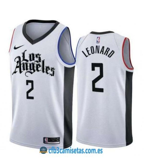 CFB3-Camisetas Kawhi Leonard Los Angeles Clippers 2019 2020 City Edition