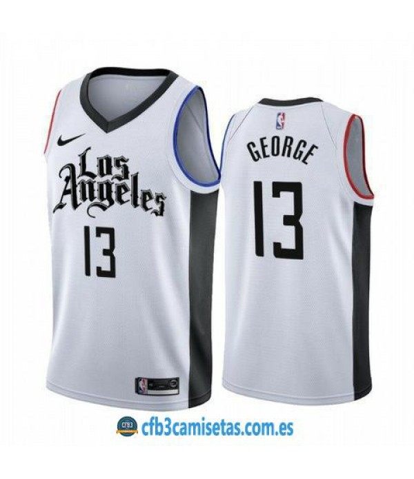 CFB3-Camisetas Paul George Los Angeles Clippers 2019 2020 City Edition