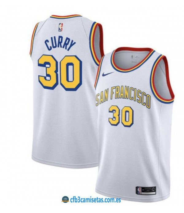 CFB3-Camisetas Stephen Curry Golden State Warriors 2019 2020 Classic Edition