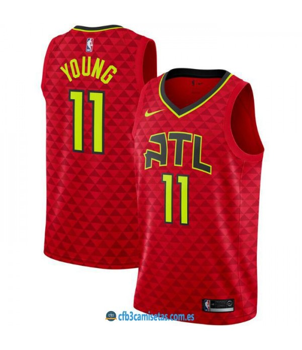 CFB3-Camisetas Trae Young Atlanta Hawks 2019 2020 Statement Edition