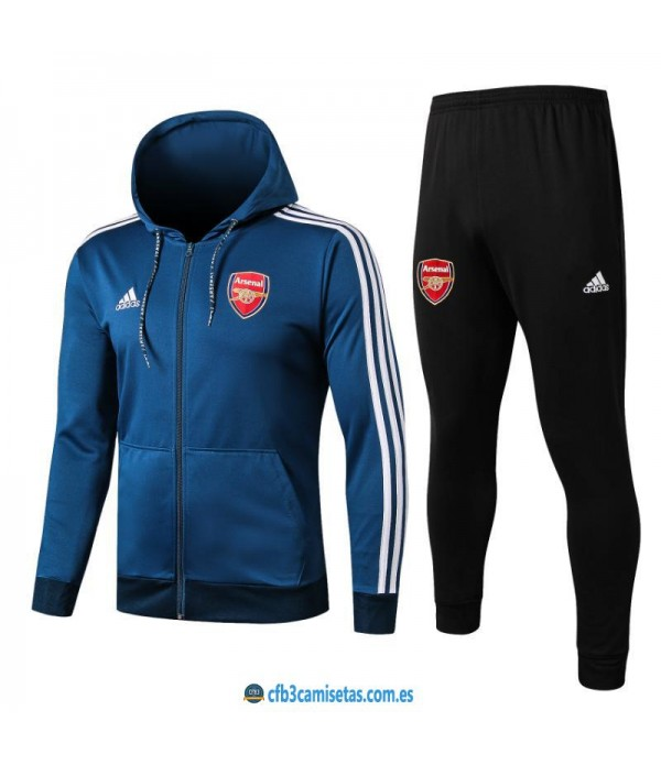 CFB3-Camisetas Chandal Arsenal 2019 2020 Azul