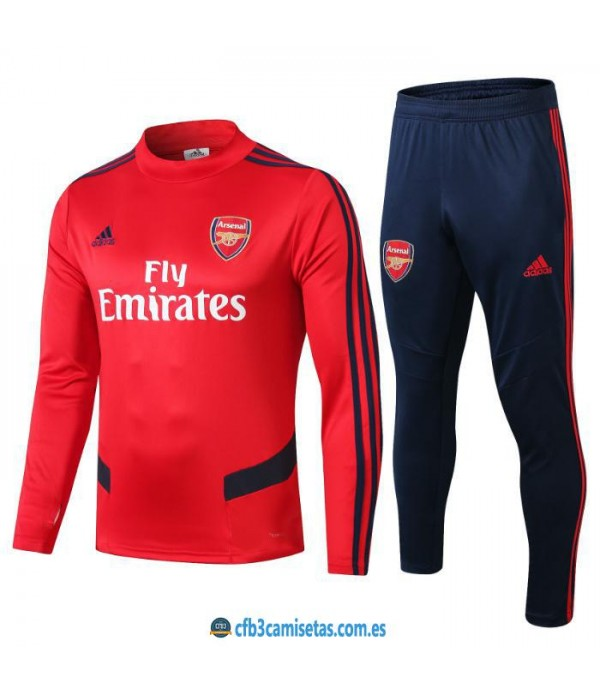 CFB3-Camisetas Chandal Arsenal 2019 2020 Rojo