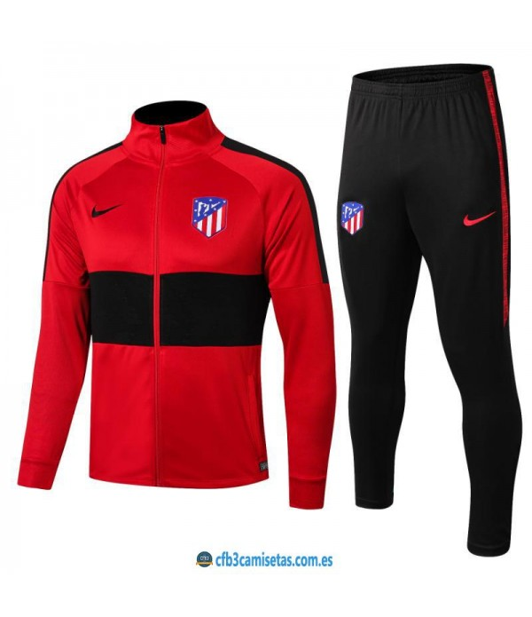 CFB3-Camisetas Chándal Atlético Madrid 2019 2020 JUNIOR