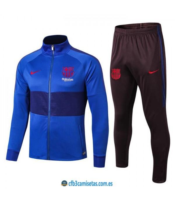 CFB3-Camisetas Chándal FC Barcelona 2019 2020 Azul