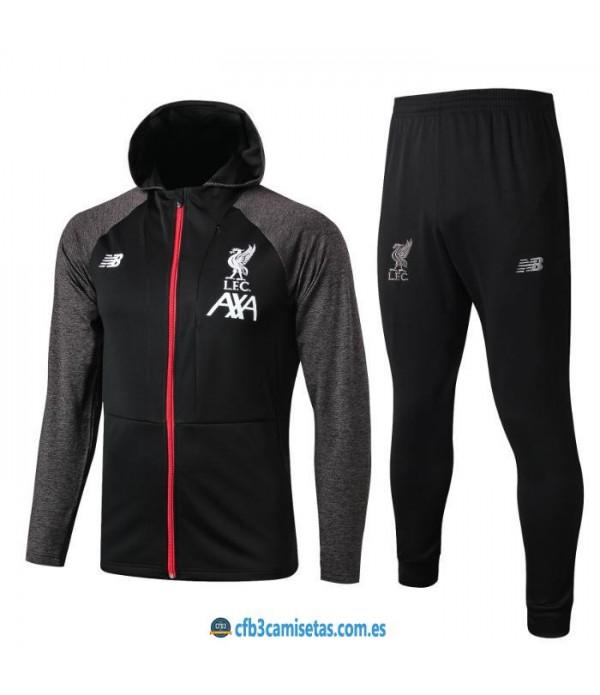 CFB3-Camisetas Chándal Liverpool 2019 2020 Capucha