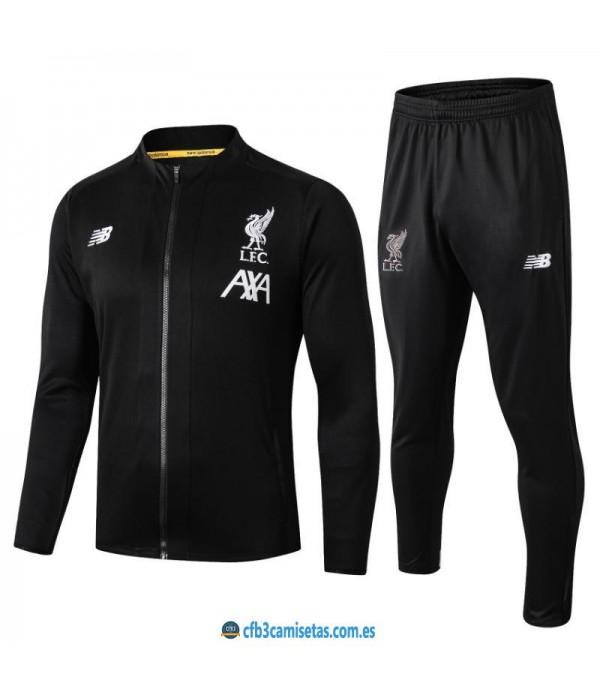 CFB3-Camisetas Chándal Liverpool 2019 2020 Negro 2