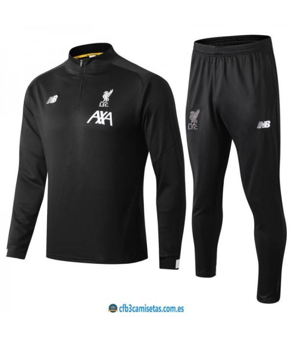 CFB3-Camisetas Chándal Liverpool 2019 2020 Negro