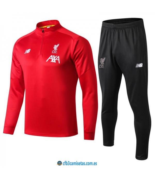 CFB3-Camisetas Chándal Liverpool 2019 2020 Rojo
