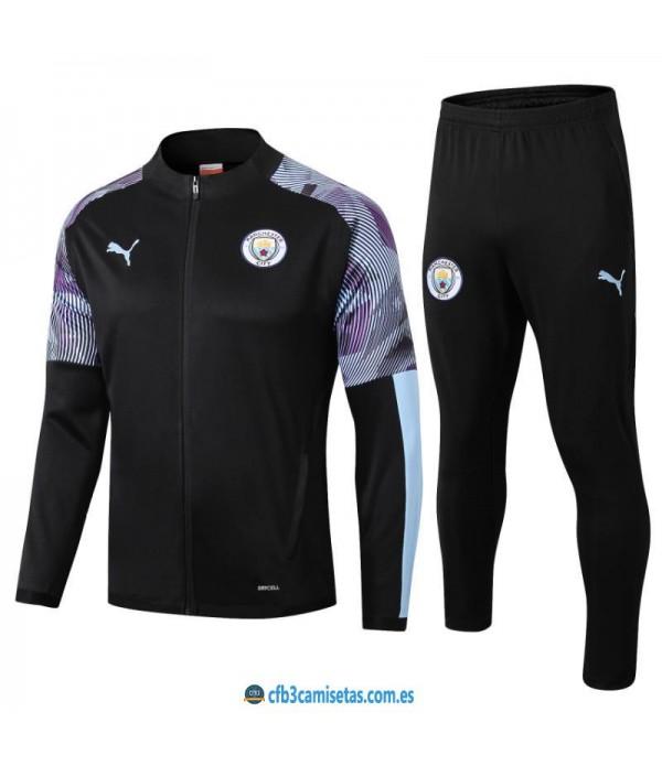 CFB3-Camisetas Chándal Manchester City 2019 2020