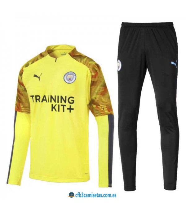 CFB3-Camisetas Chándal Manchester City 2019 2020 Tranining