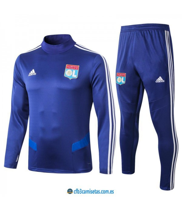CFB3-Camisetas Chándal Olympique Lyon 2019 2020 Azul