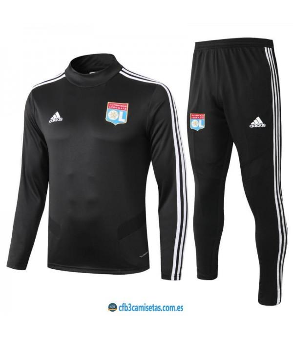 CFB3-Camisetas Chándal Olympique Lyon 2019 2020 Negro 2