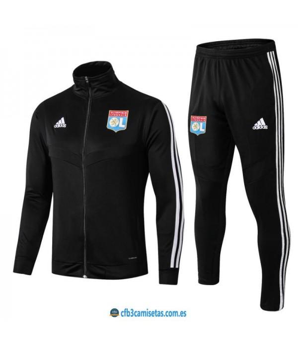 CFB3-Camisetas Chándal Olympique Lyon 2019 2020 Negro