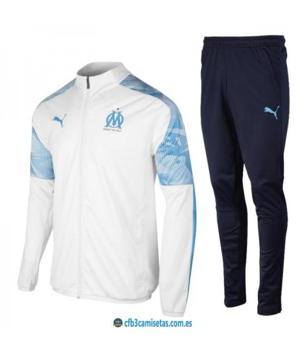 CFB3-Camisetas Chándal Olympique Marsella 2019 2020 Blanco