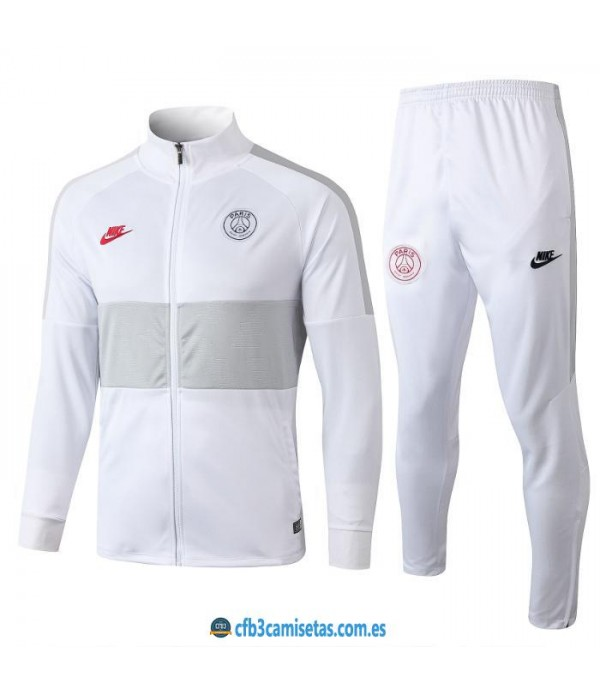 CFB3-Camisetas Chandal PSG 2019 2020 Blanco