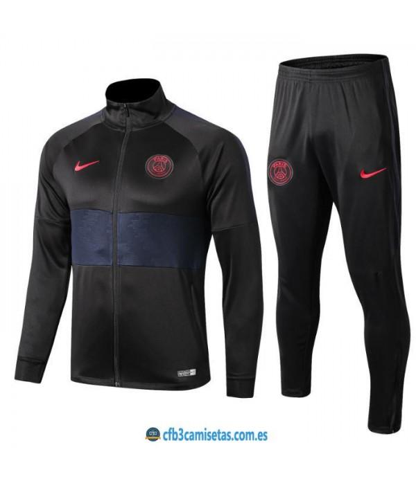 CFB3-Camisetas Chandal PSG 2019 2020 Negro