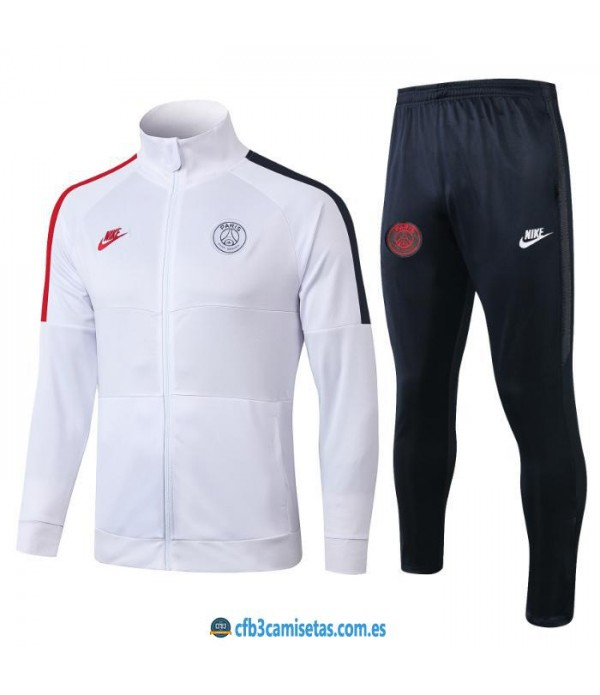 CFB3-Camisetas Chándal PSG x Jordan 2019 2020 White PSG
