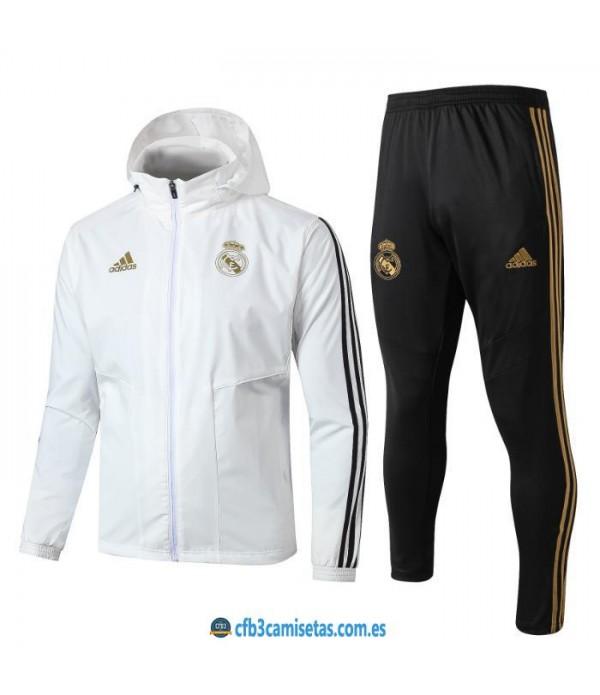 CFB3-Camisetas Chándal Real Madrid 2019 2020 Capu...