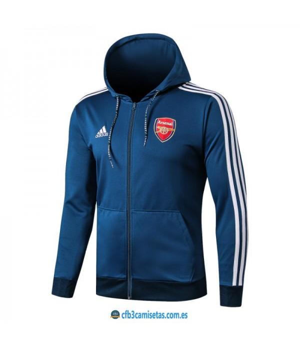 CFB3-Camisetas Chaqueta Arsenal 2019 2020 Azul