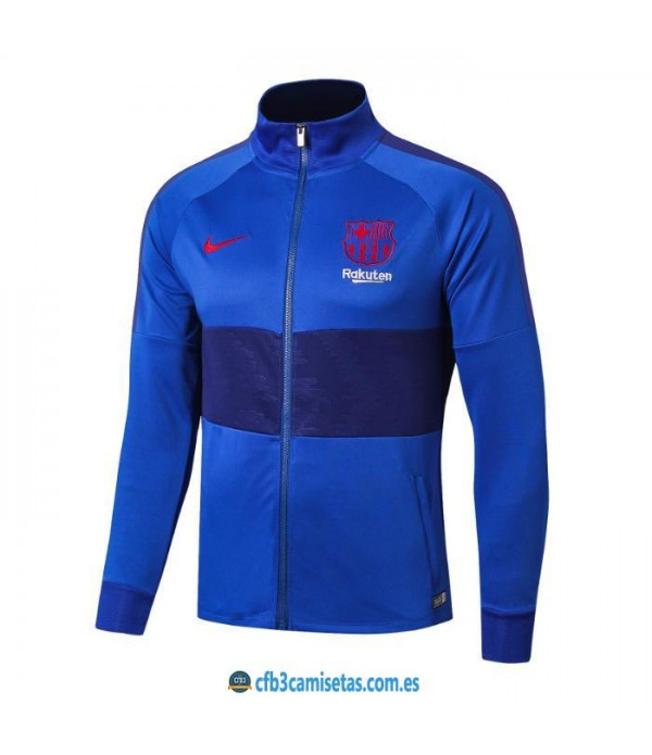 CFB3-Camisetas Chaqueta FC Barcelona 2019 2020 Azul