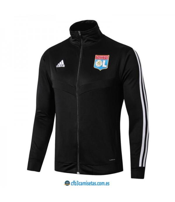 CFB3-Camisetas Chaqueta Olympique Lyon 2019 2020 Negra