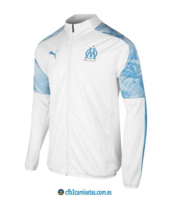 CFB3-Camisetas Chaqueta Olympique Marsella 2019 2020 Blanca