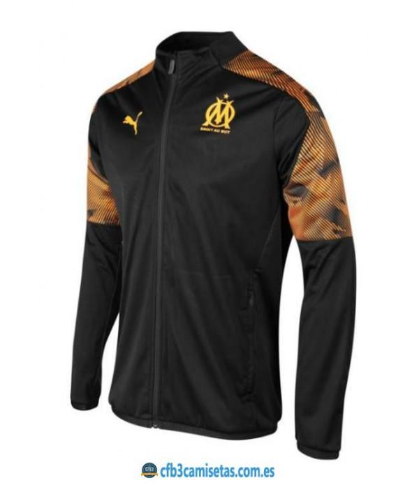 CFB3-Camisetas Chaqueta Olympique Marsella 2019 2020 Negra