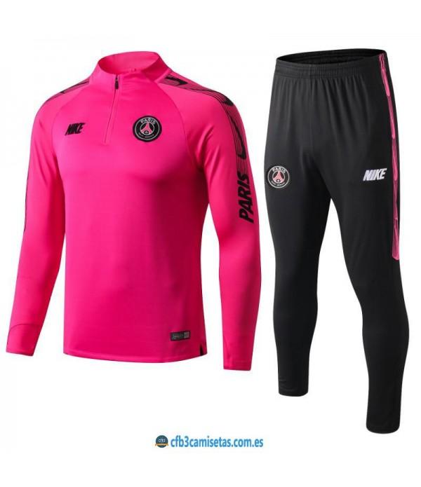CFB3-Camisetas Chaqueta PSG 2019 2020 Rosa