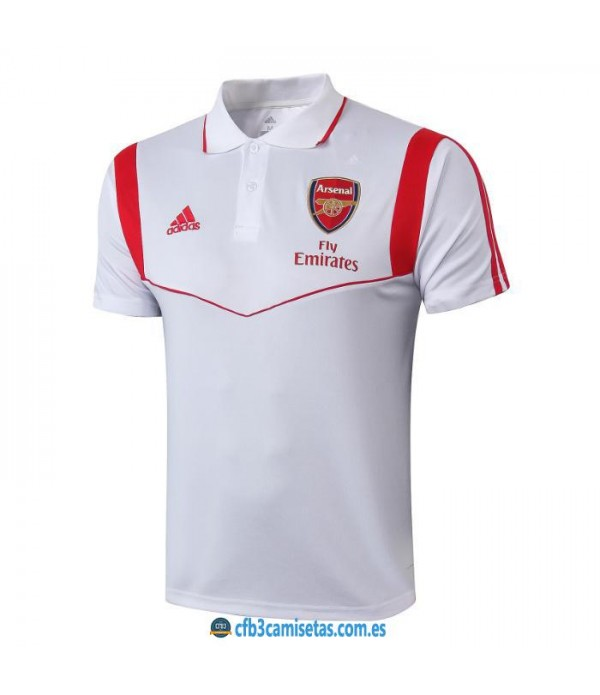 CFB3-Camisetas Polo Arsenal 2019 2020 Blanco