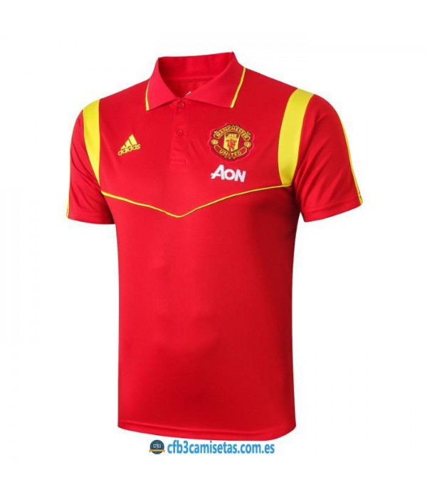 CFB3-Camisetas Polo Manchester United 2019 2020 Red