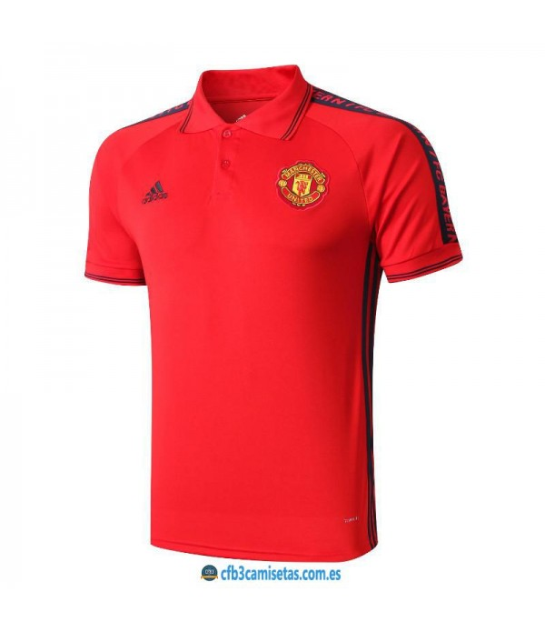 CFB3-Camisetas Polo Manchester United 2019 2020 Rojo