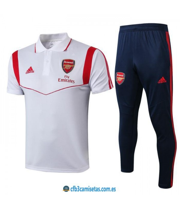 CFB3-Camisetas Polo  Pantalón Arsenal 2019 2020 Blanco