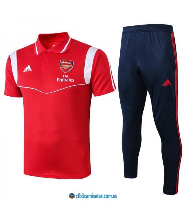 CFB3-Camisetas Polo  Pantalón Arsenal 2019 2020 Rojo
